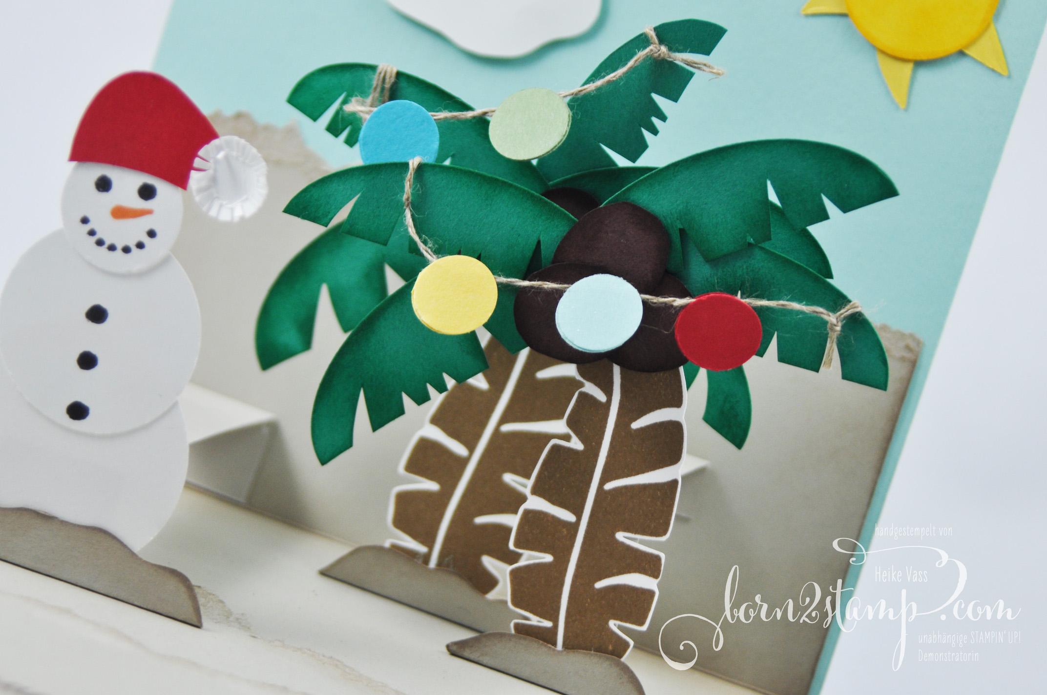 born2stamp STAMPIN' UP! IN{K}SPIRE_me – Weihnachtskarte – Pop of Paradise – Tannenzauber – Partyballons – Fröhliche Weihnachten