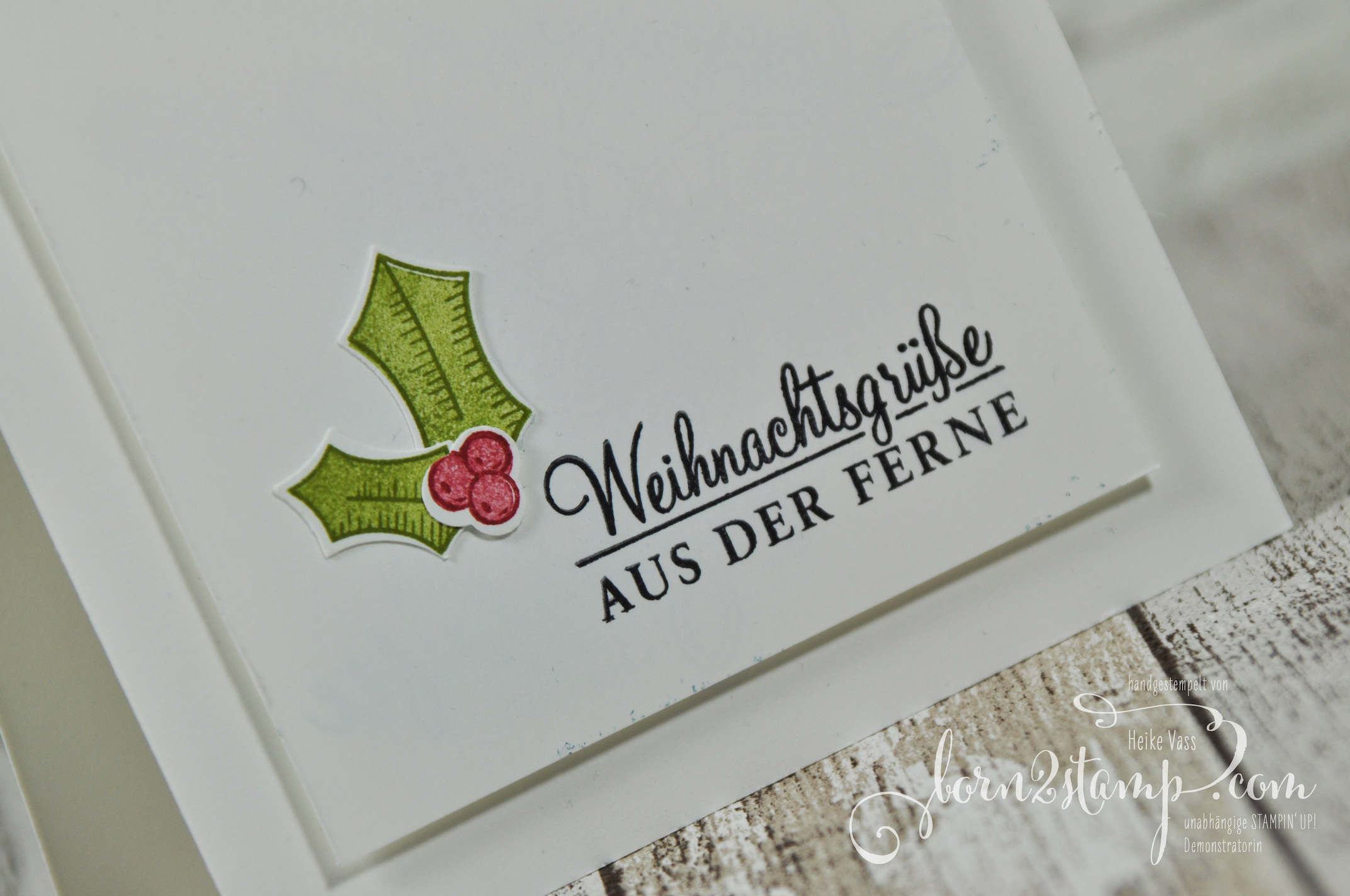 born2stamp STAMPIN' UP! Weihnachtskarte – Adventsgruen