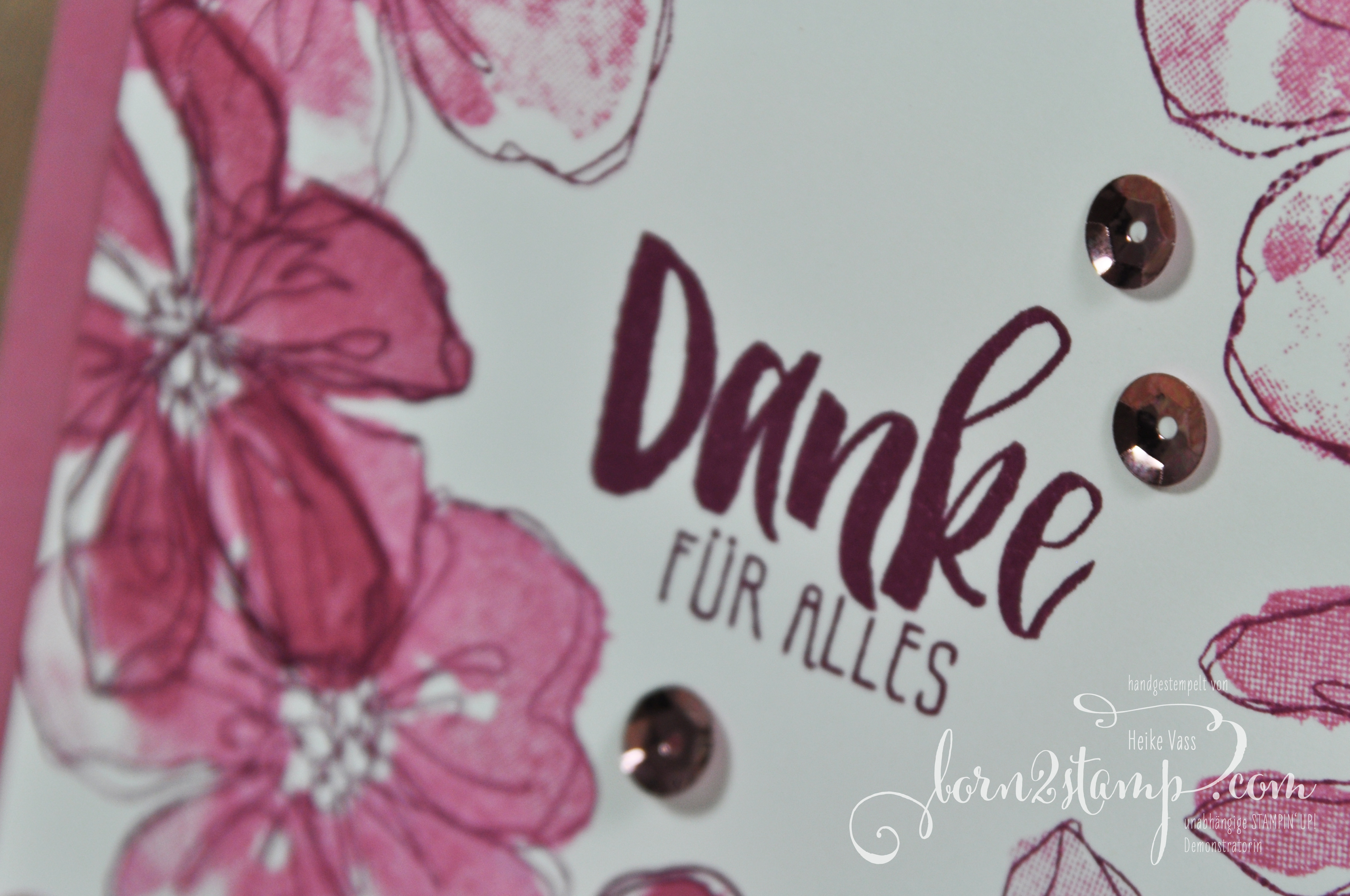 born2stamp Stamping Techniques 101 STAMPIN' UP!  Dankeskarte – Penned & Painted – Wunderbare Worte
