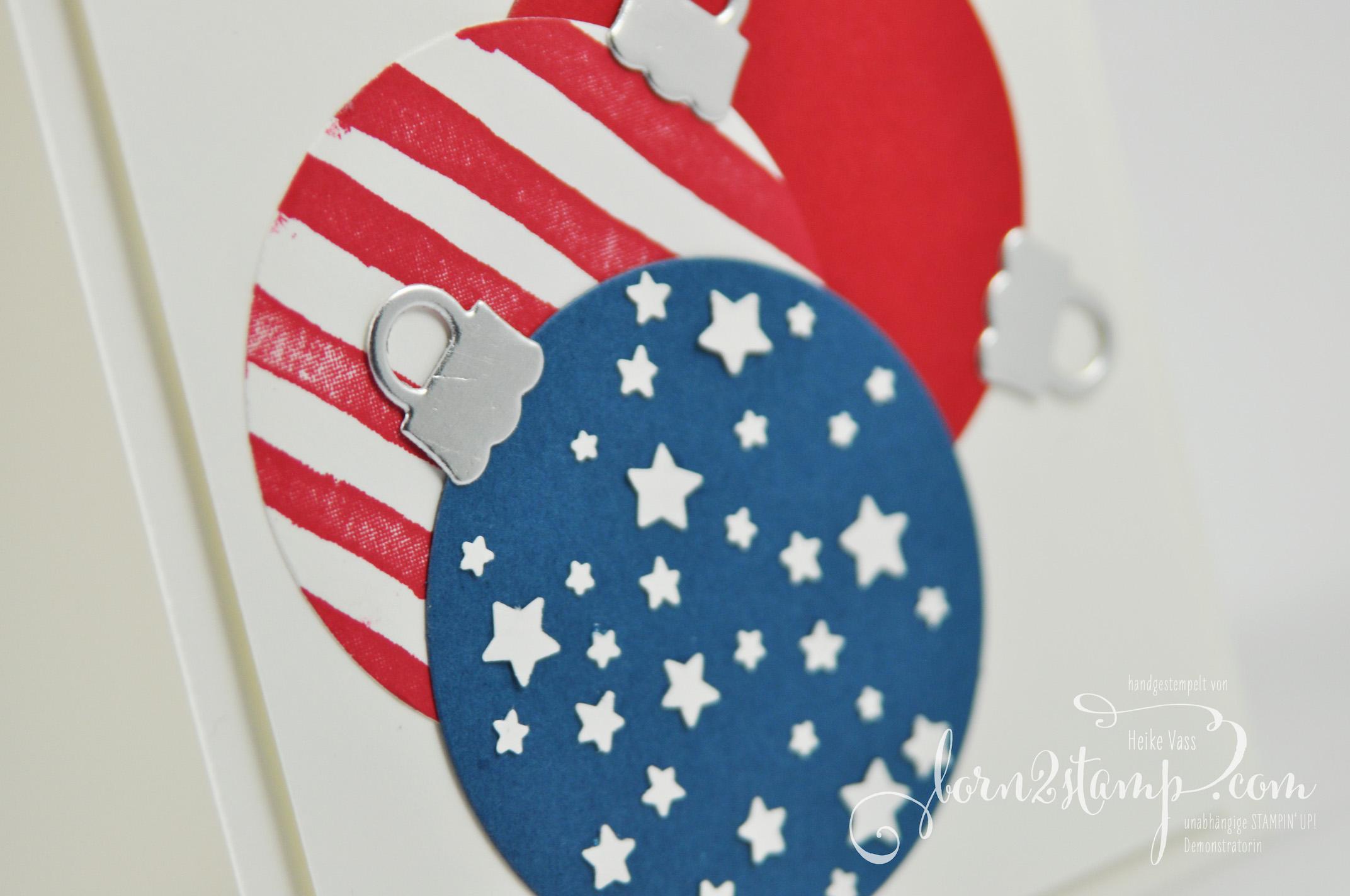 born2stamp STAMPIN' UP! IN{K}SPIRE_me – Weihnachtskarte – Brushstroke – Froehliche Weihnachten – Ballon Framelits – Thinlits Am Christbaum – Sternenkonfetti