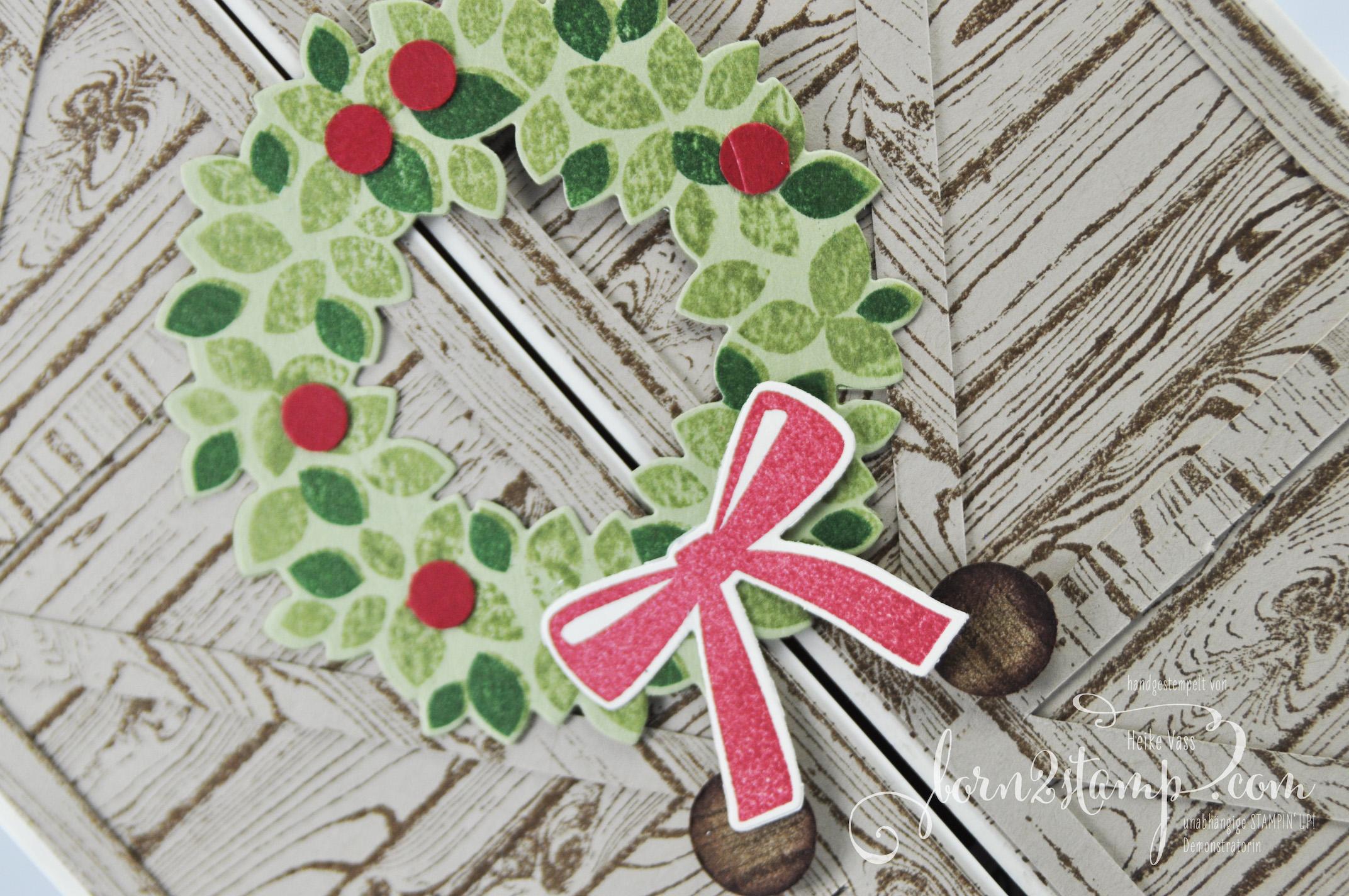 born2stamp STAMPIN' UP! IN{K}SPIRE_me – Weihnachtskarte – Willkommen Weihnacht Hardwood