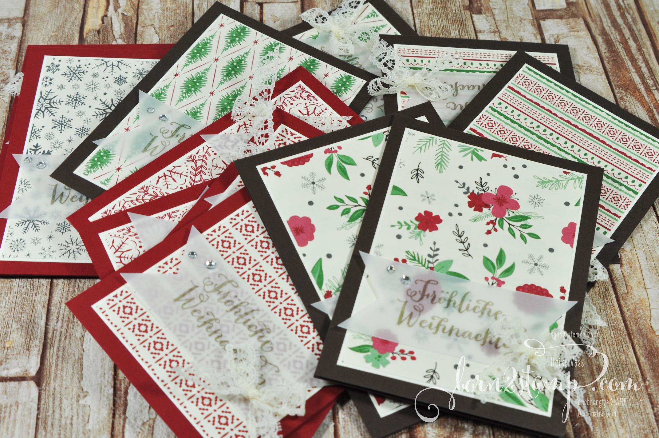 born2stamp STAMPIN' UP! Weihnachtskarte – DSP Fuer Weihnachten