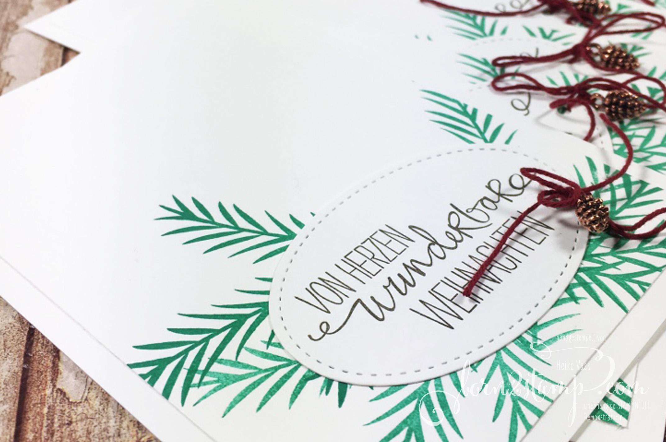 born2stamp STAMPIN' UP! Weihnachtskarte – Mini-Tannenzapfen