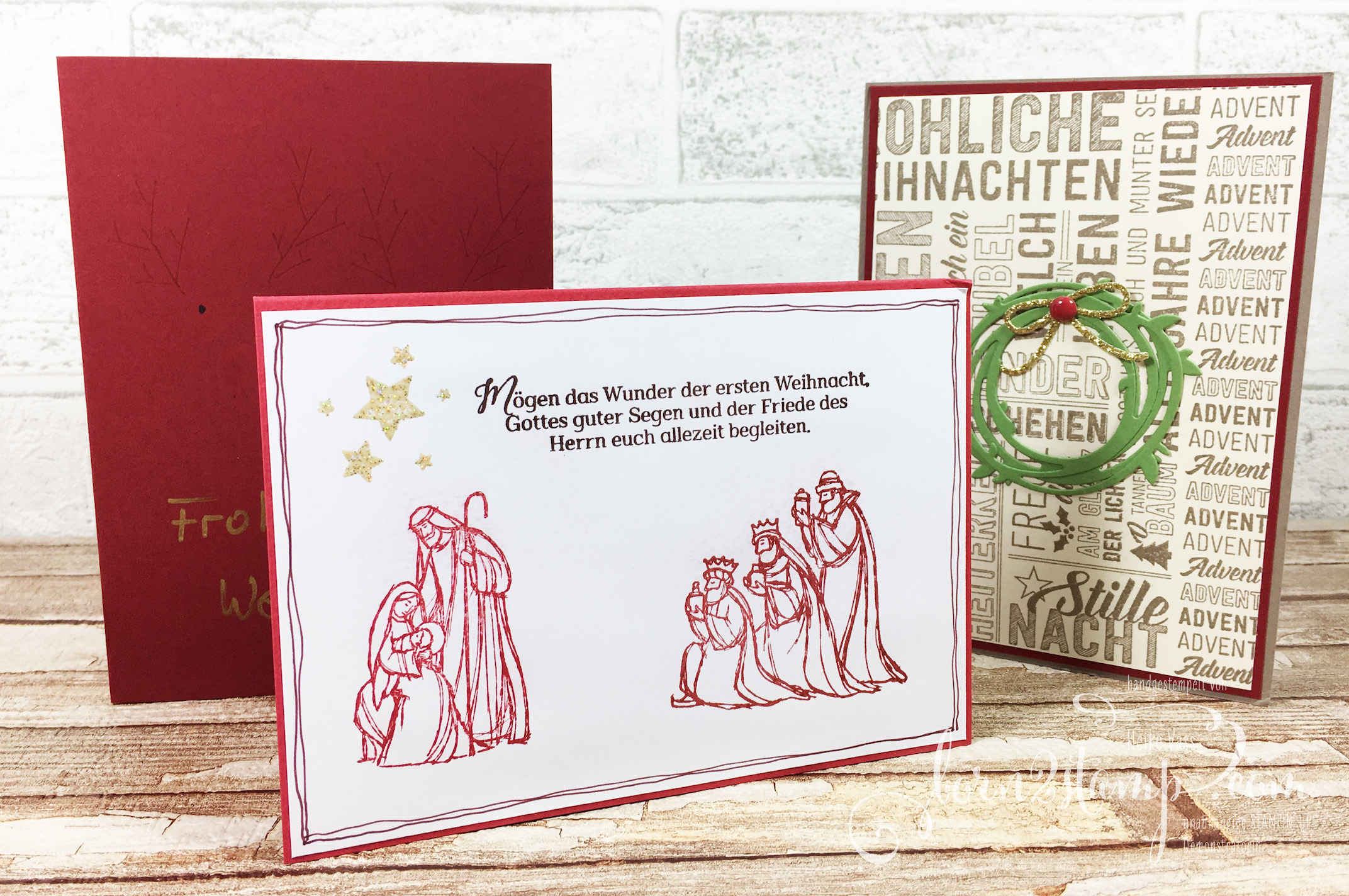born2stamp Weihnachtskarten 2016-2