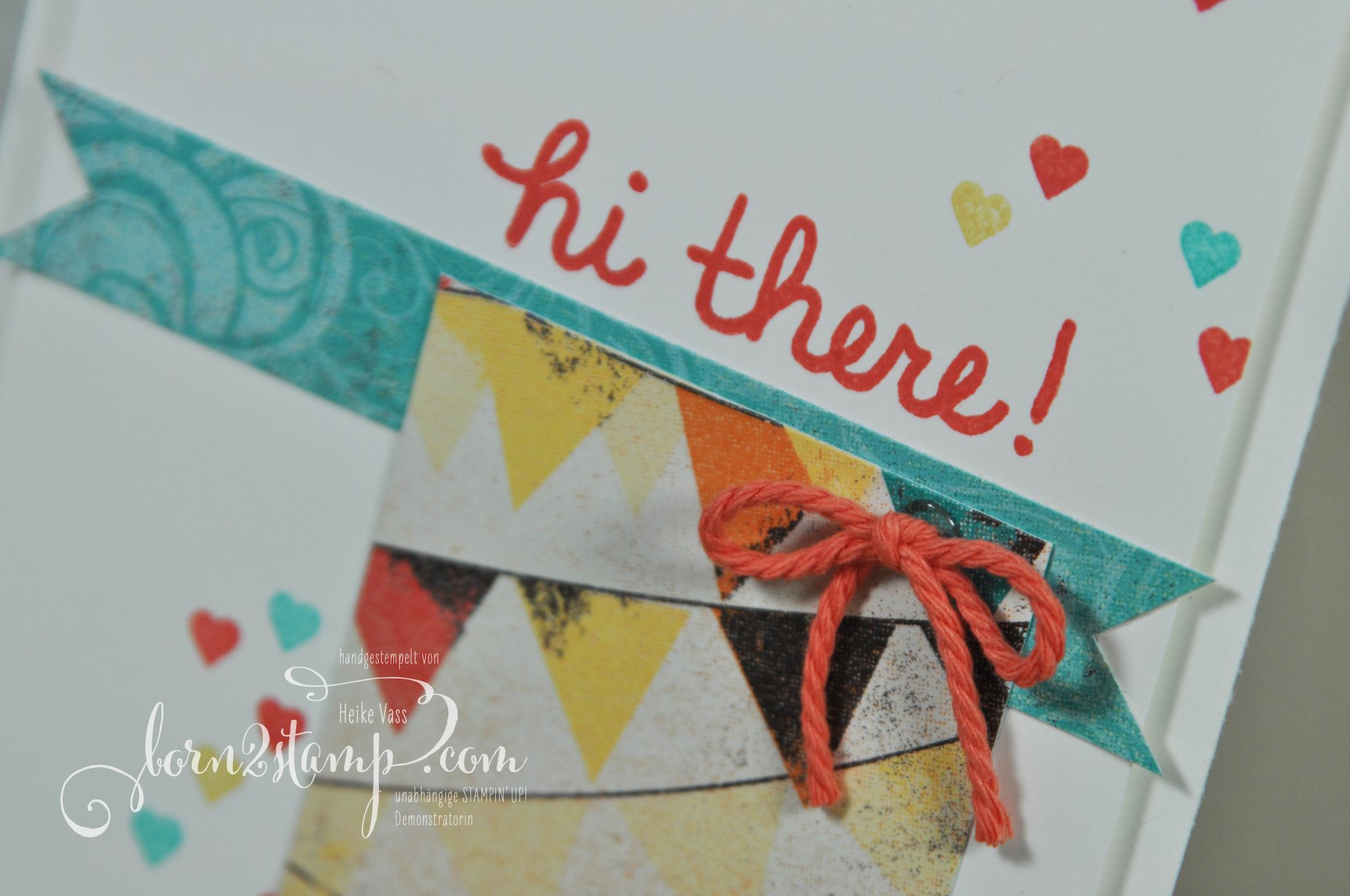born2stamp STAMPIN' UP! Willkommenspaket Vicky Builder Birdcage – Aus freudigem Anlass – DSP Cupcakes und Karussells – Labeler Alpha