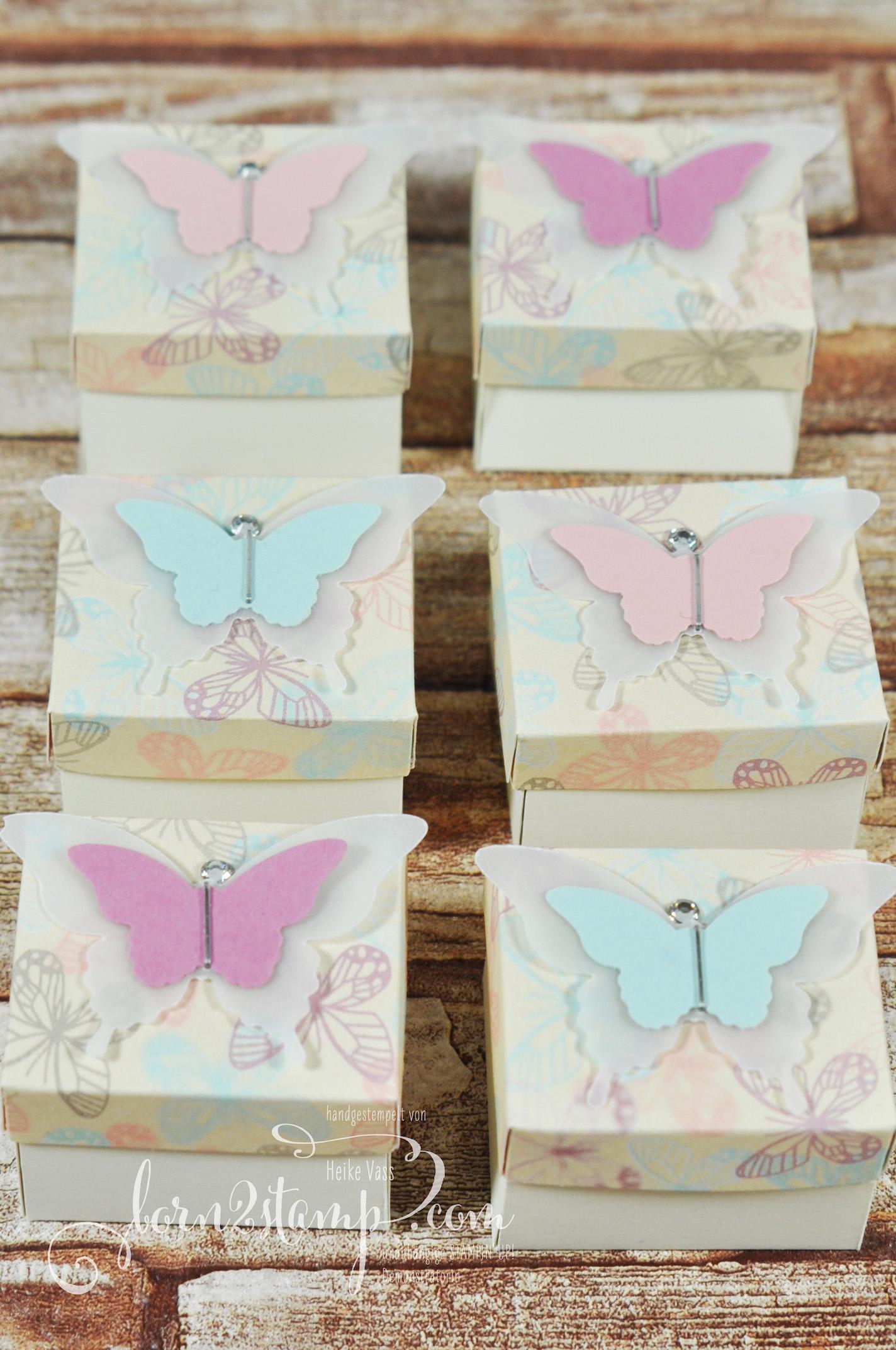 born2stamp STAMPIN' UP! Goodies – DSP Zum Verlieben – Stanze Eleganter Schmetterling – Stanze Mini-Schmetterling