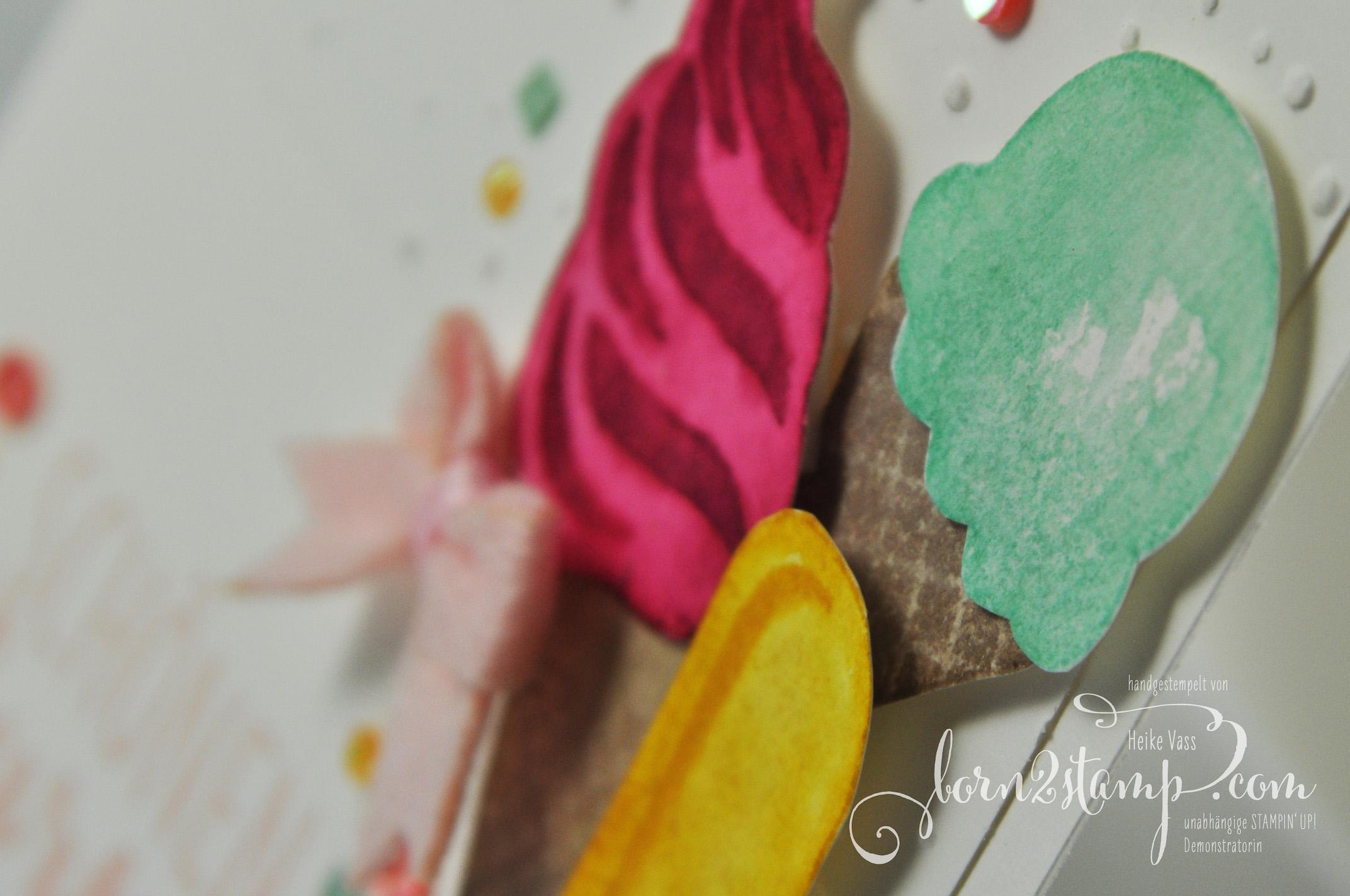 born2stamp STAMPIN' UP! IN{K}SPIRE_me – Geburtstagskarte – Eis Eis Baby – Coole Kreationen