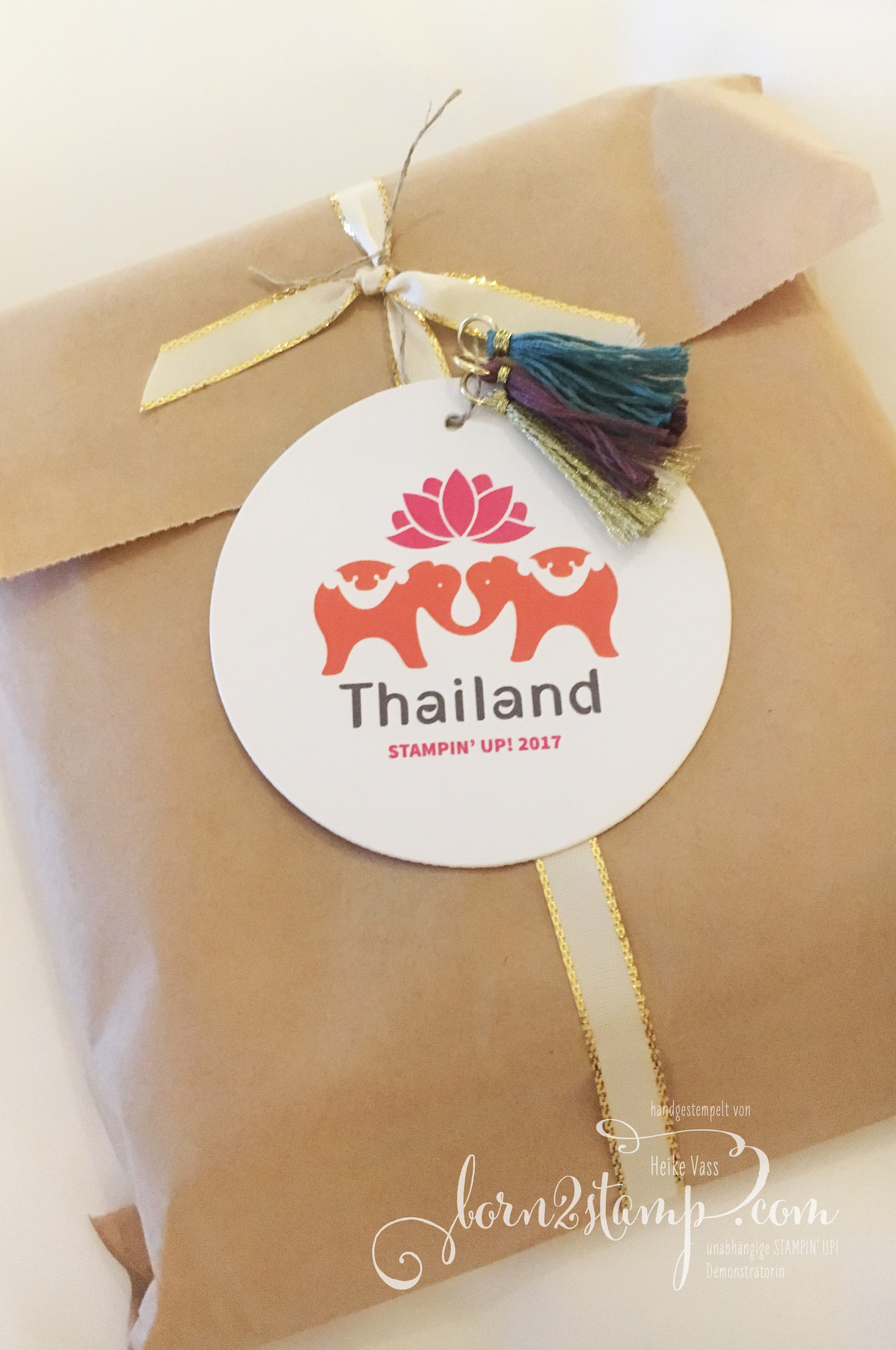 STAMPIN' UP! born2stamp Prämienreise Thailand – Pillow gift 2