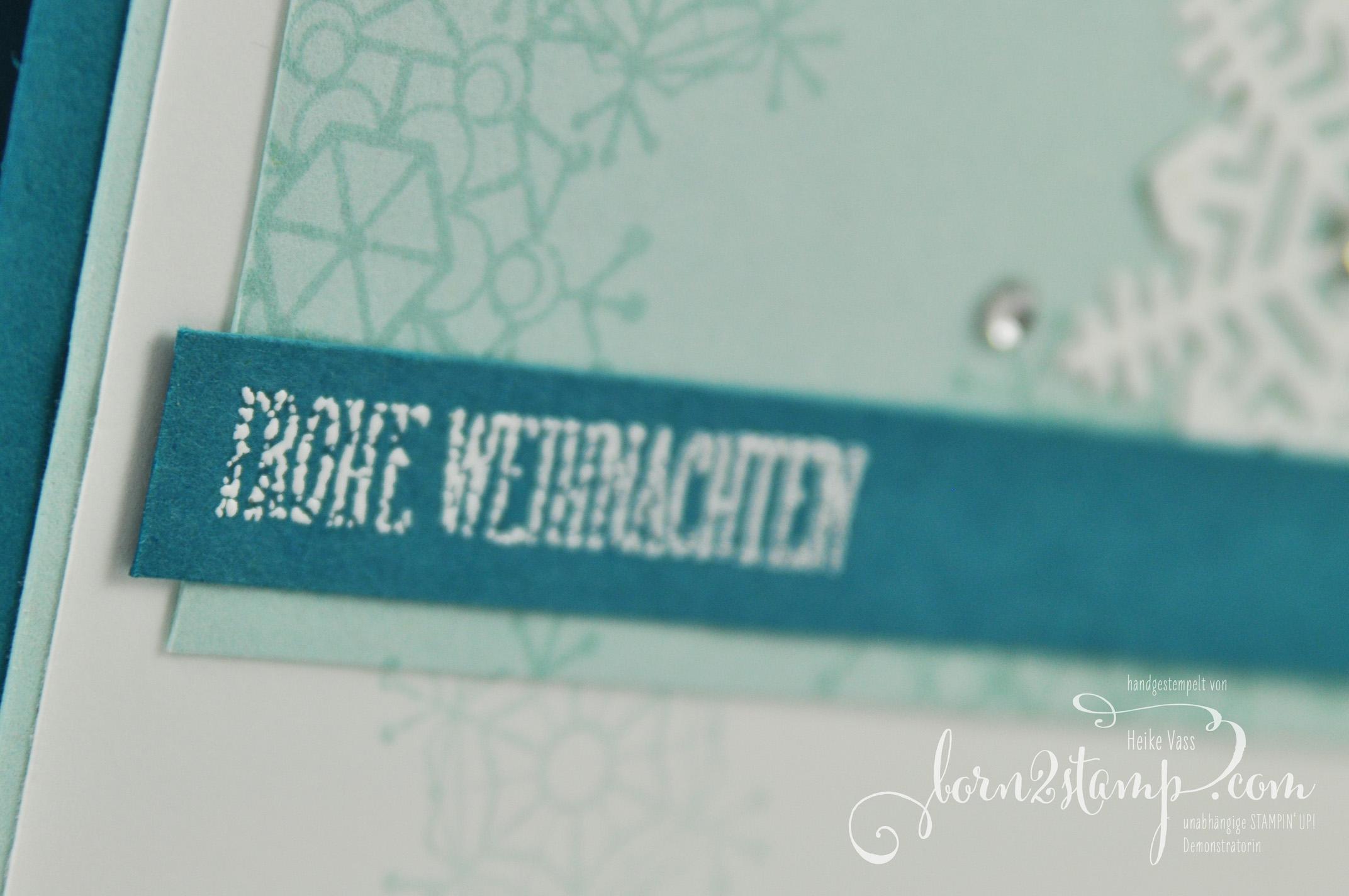 born2stamp STAMPIN' UP! INKSPIRE_me – Weihnachtskarte – Jahr voller Farben – Thinlits Aus jeder Jahreszeit – Wie zu Hause
