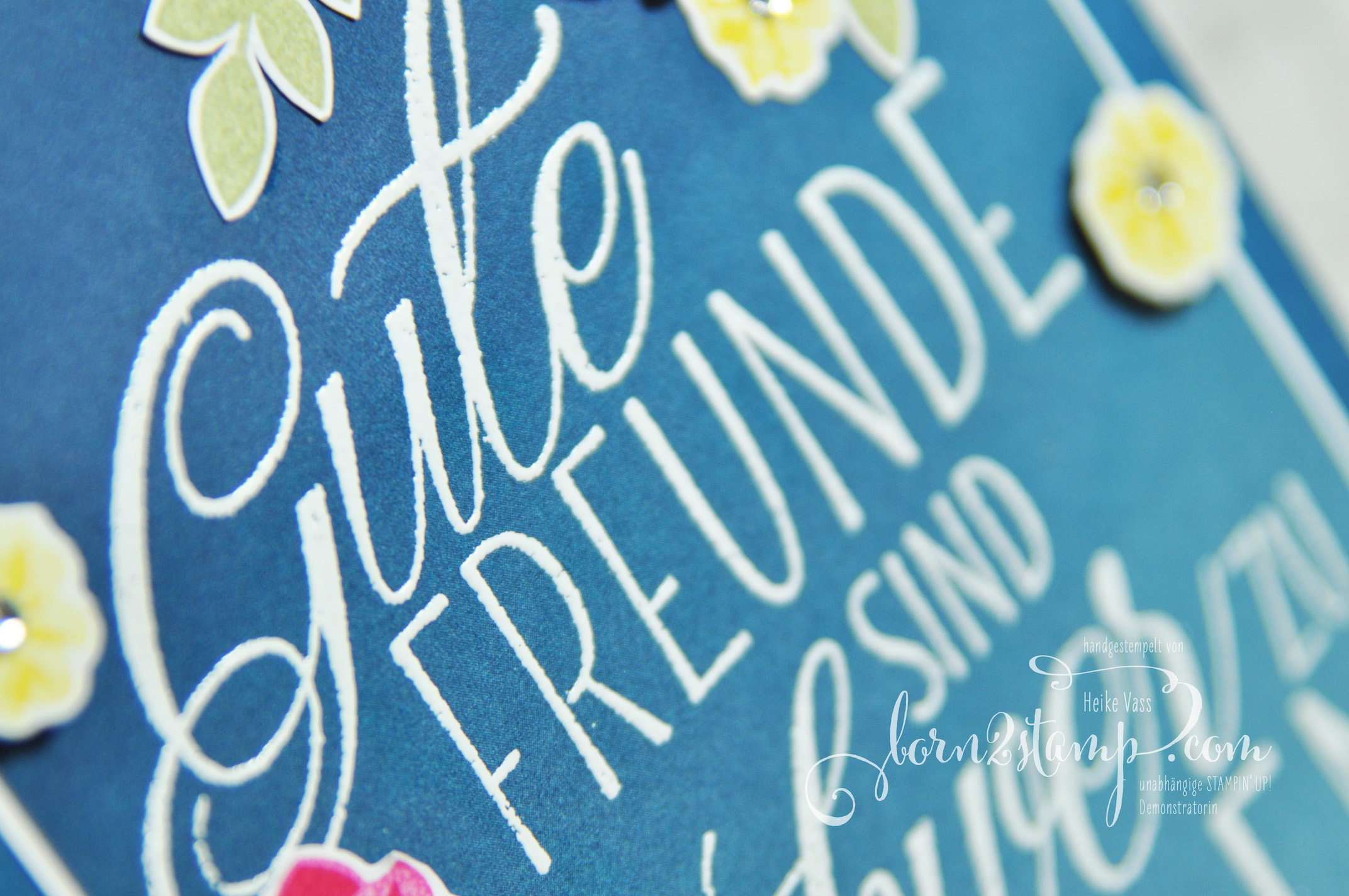 born2stamp STAMPIN' UP! Stamping Technique 101 – Lovely Friends – Embossing