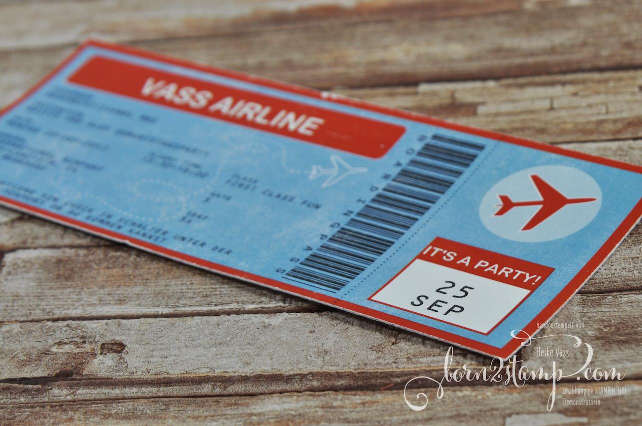 born2stamp Flugzeugparty Geburtstag Einladungen