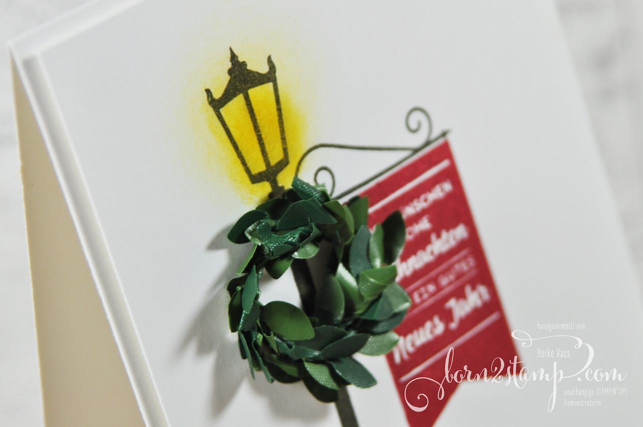 born2stamp STAMPIN' UP! Bloghop Weihnachtskarte – Weihnachten im Lichterschein – Thinlits Weihnachtslaterne