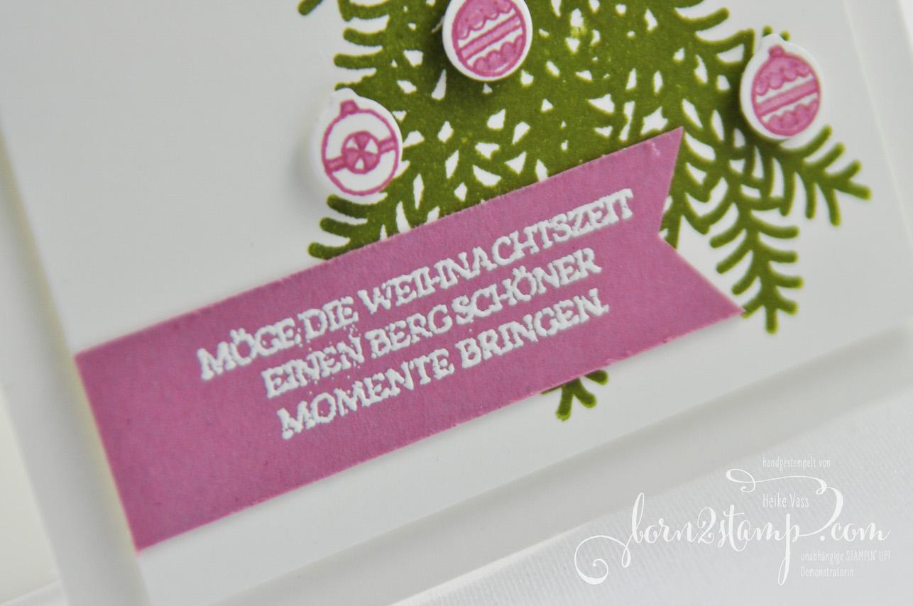 born2stamp STAMPIN' UP! INKSPIRE_me Weihnachtskarte – Vorfreude – Big Shot Weihnachtliche Treppe – Weihnachtsschlitten
