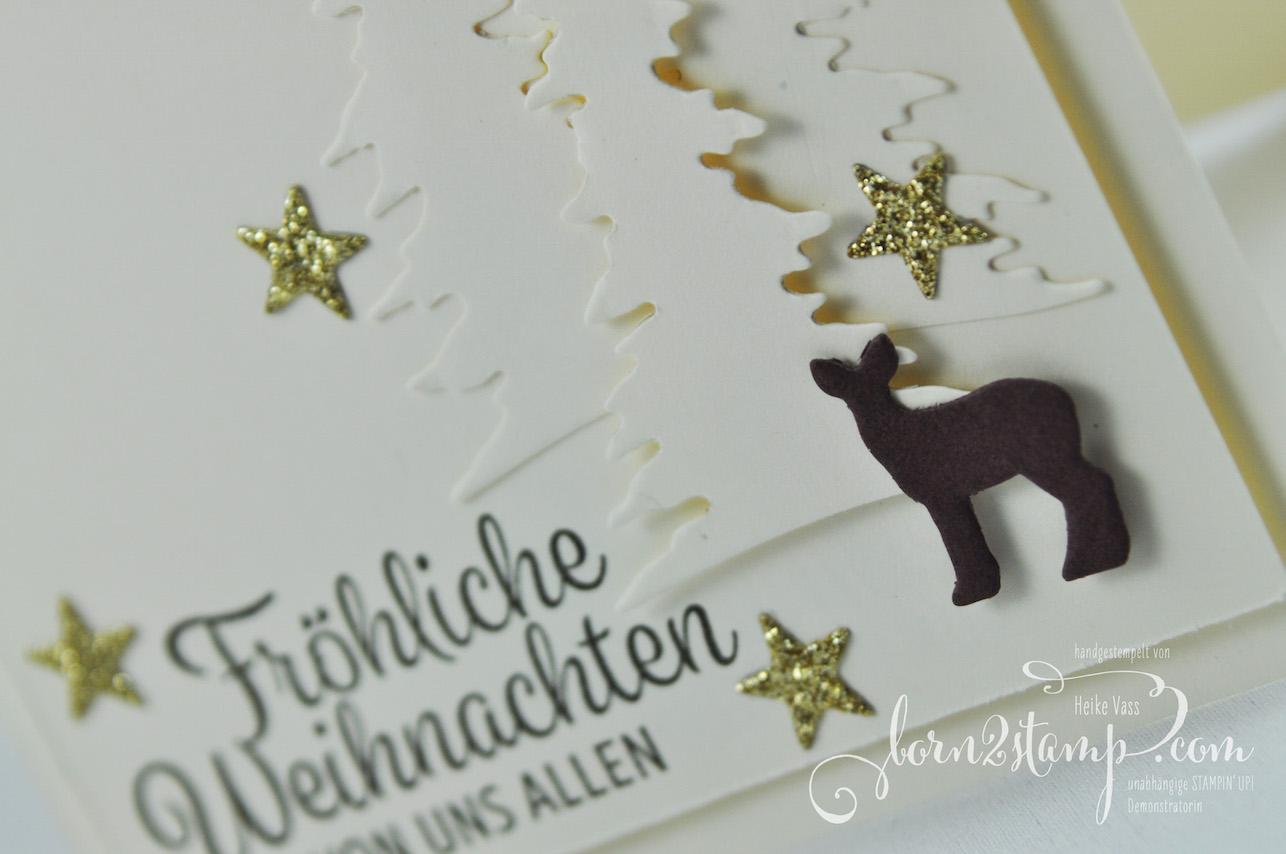 born2stamp STAMPIN' UP! INKSPIRE_me Weihnachtskarte – Winterwunder – Thinlits Festtagsdesign – Thinlits Mini treat bag