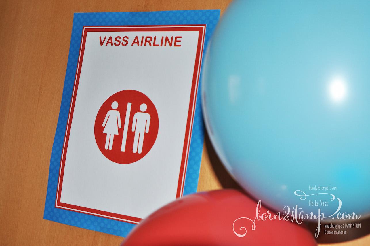 born2stamp Geburtstag Flugzeug Flughafen Deko