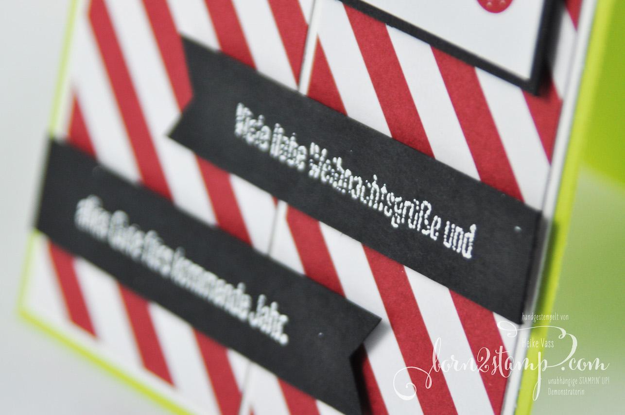 born2stamp STAMPIN' UP! Weihnachtskarte – Alle guten Wuensche – Memories & More Frohes Fest