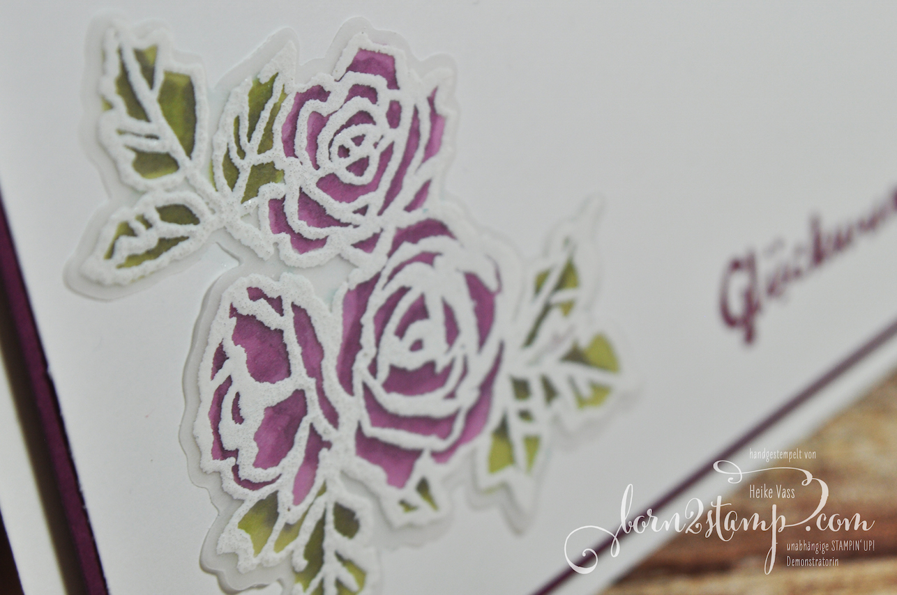 born2stamp STAMPIN' UP! Stamping Technique 101 – Stained Glass – Blütentraum – Blüten Blätter Co – Embossing
