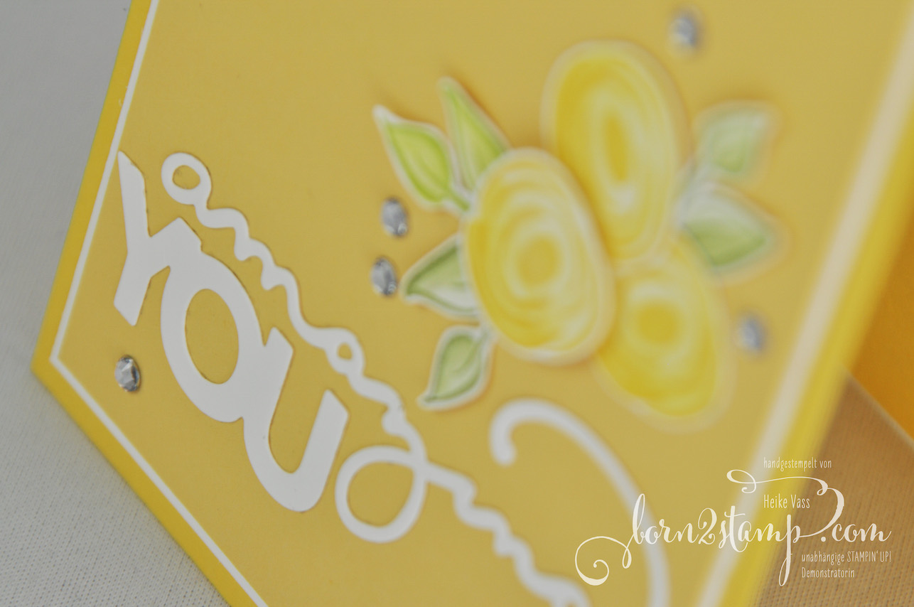 born2stamp STAMPIN' UP! Geburtstagskarte – Sale-a-bration – Thinlits Celebrate you – Alle meine Geburtstagsgruesse – Aquapainter