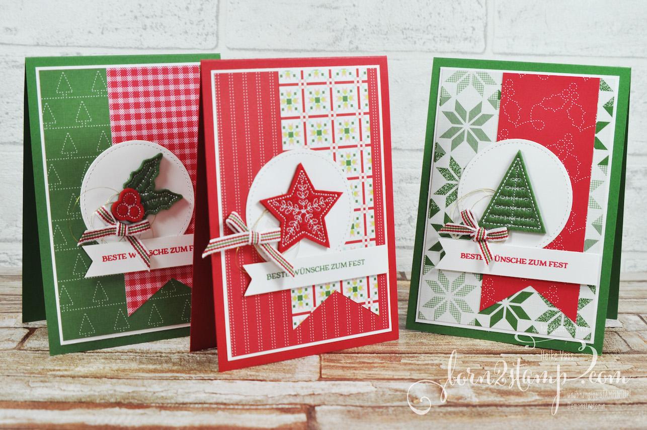 born2stamp STAMPIN' UP! Team Weihnachtsfeier Projekt 1.1