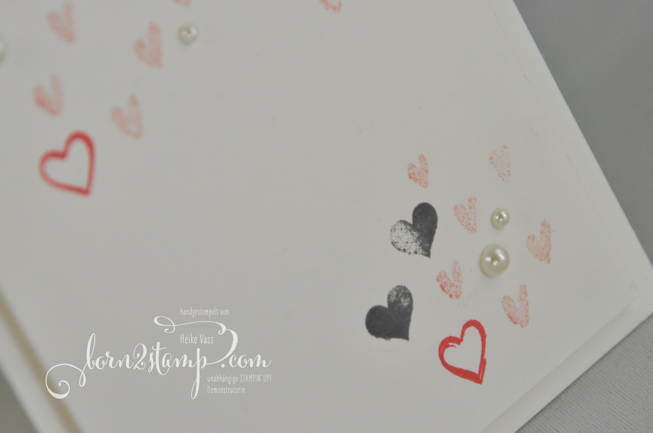 born2stamp STAMPIN' UP! Valentinskarte – Yay you – Heart Happiness