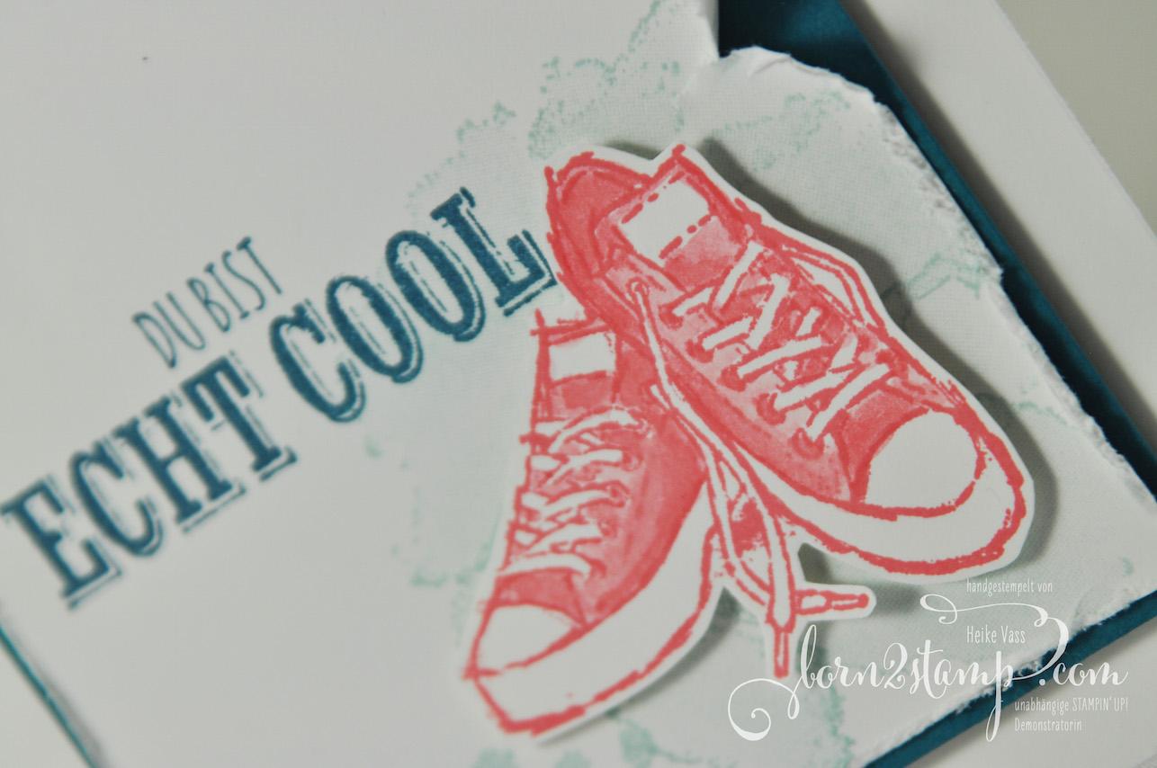 born2stamp STAMPIN' UP! IN{K}SPIRE_me – Geburtstagskarte – Echt cool – Vielseitige Gruesse
