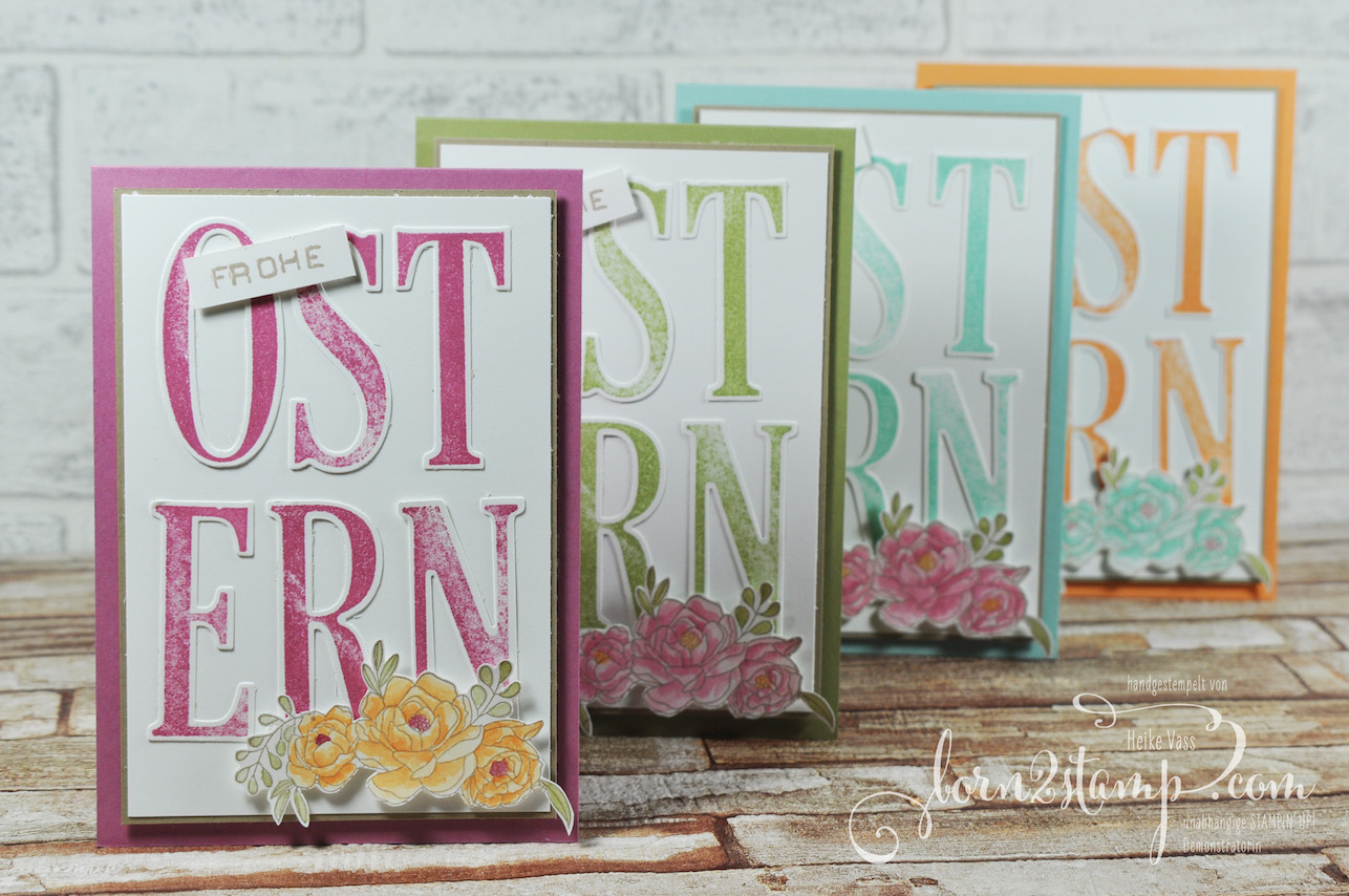 born2stamp STAMPIN' UP! Ostereiersuche – Osterkarte – Letters for you – Labeler Alpha – Blumenkorb