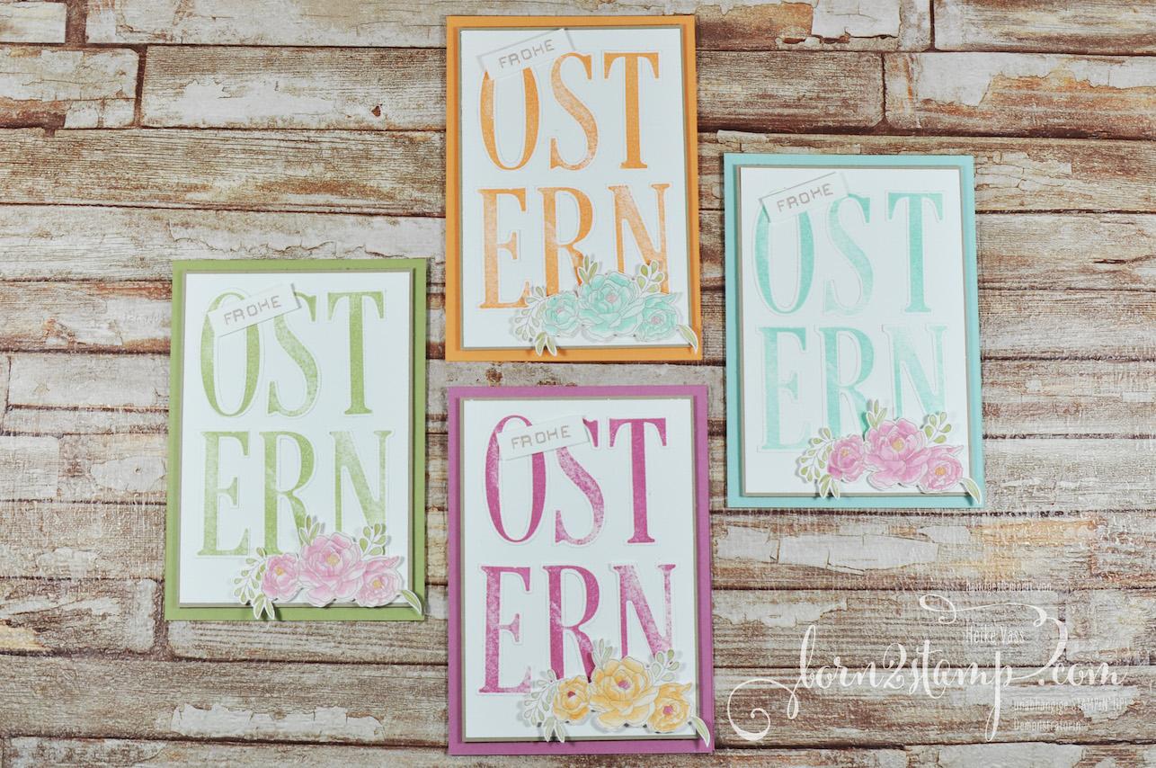 born2stamp STAMPIN' UP! Ostereiersuche – Osterkarte – Letters for you – Labeler Alpha – Blumenkorb