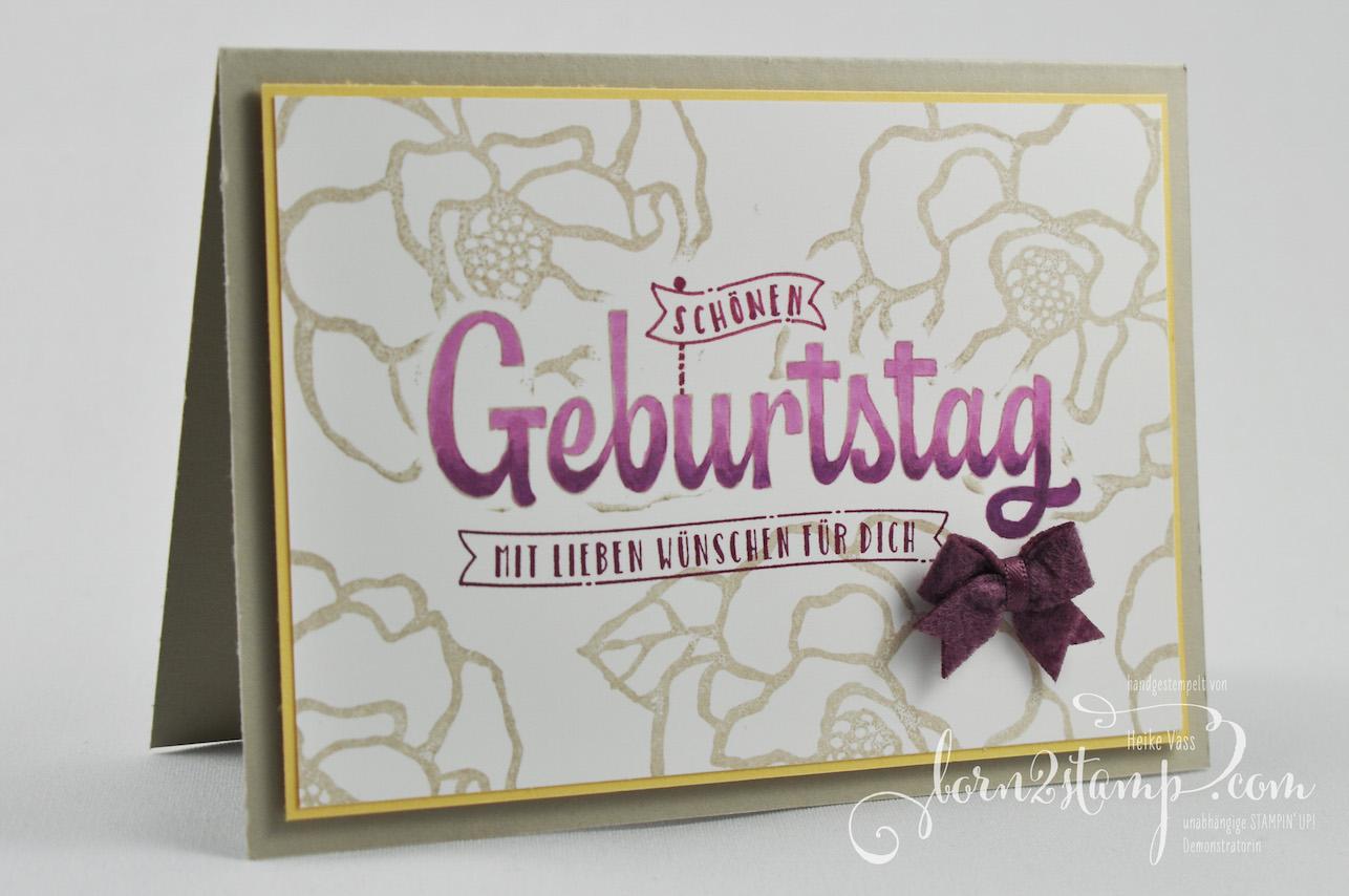 born2stamp STAMPIN' UP! INKSPIRE_me – Geburtstagskarte – Wunderbarer Tag – Geburtstagswuensche fuer dich