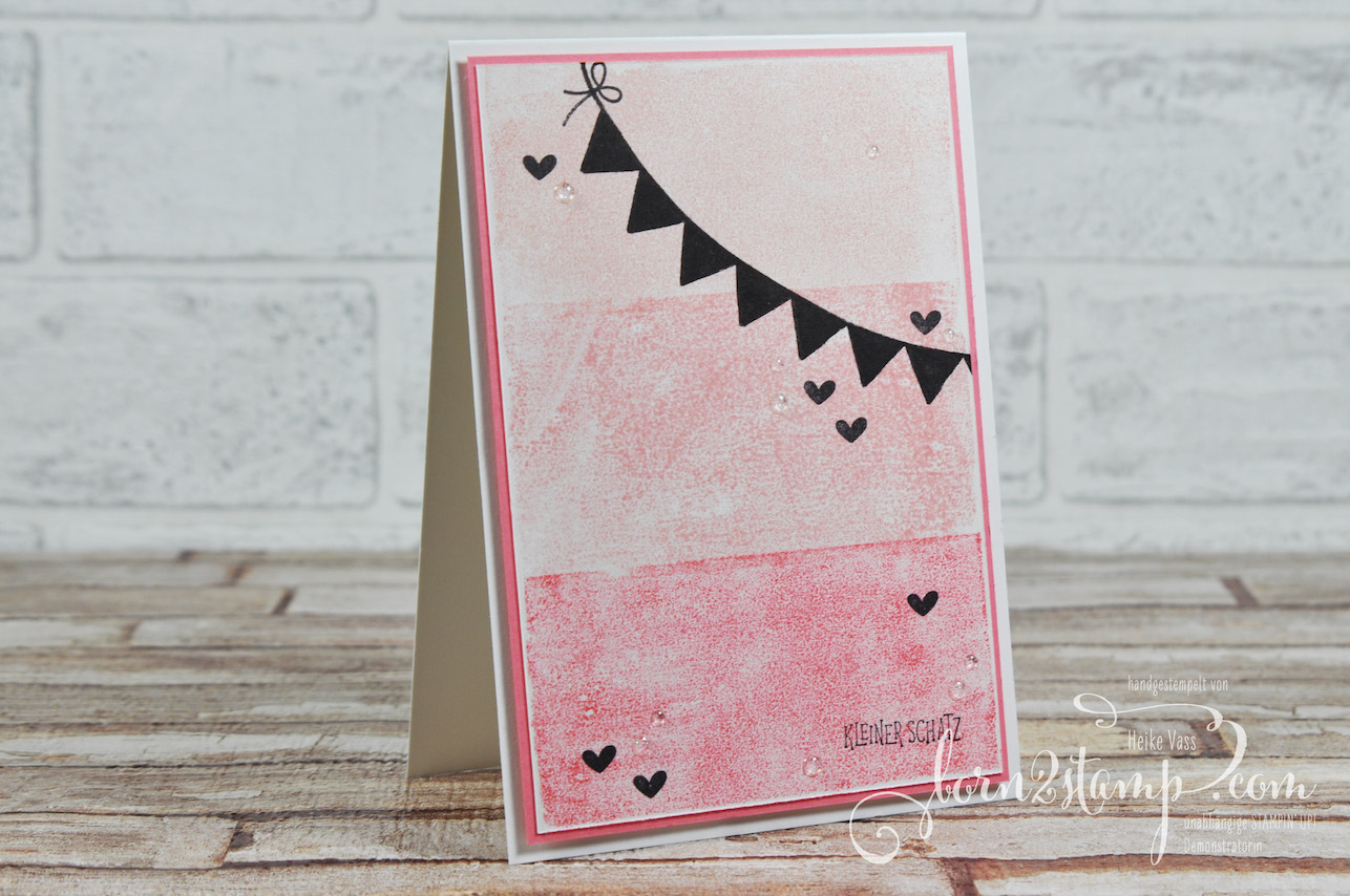 born2stamp STAMPIN' UP! Stampin' Technique to try – Masking Tape Technique – Pick a pennant – Wild auf Gruesse