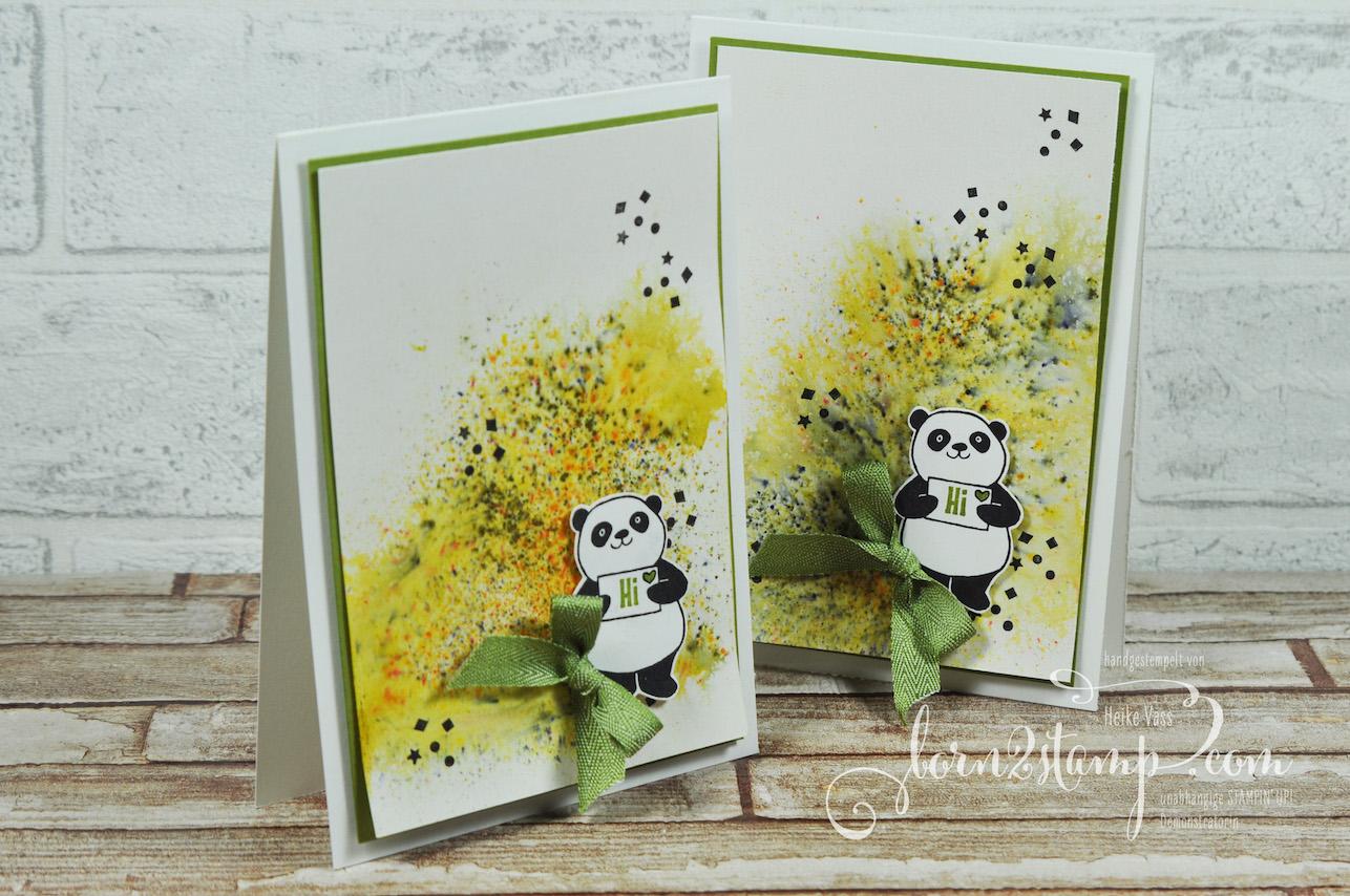 born2stamp STAMPIN' UP! Teamgeschenke Party Pandas – Brushos
