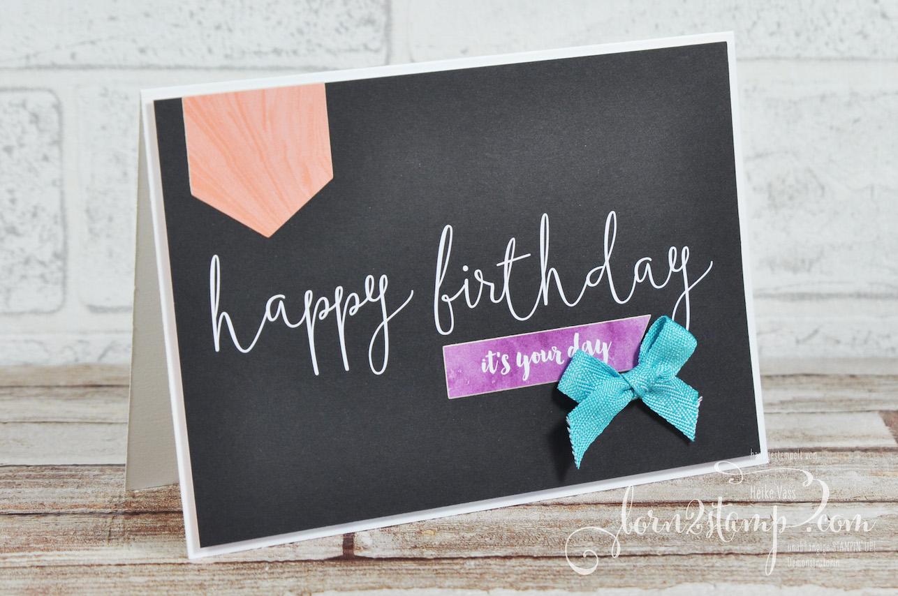 born2stamp STAMPIN' UP! Stamping Technique to try – Geburtstagskarte – Erinnerungen und mehr – Fantastisch filigran
