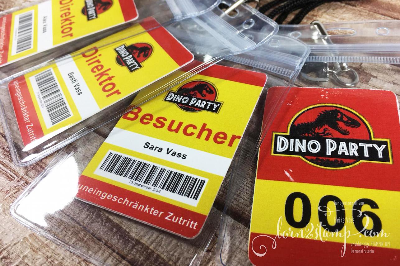 born2stamp Dino-Party – Einladungen