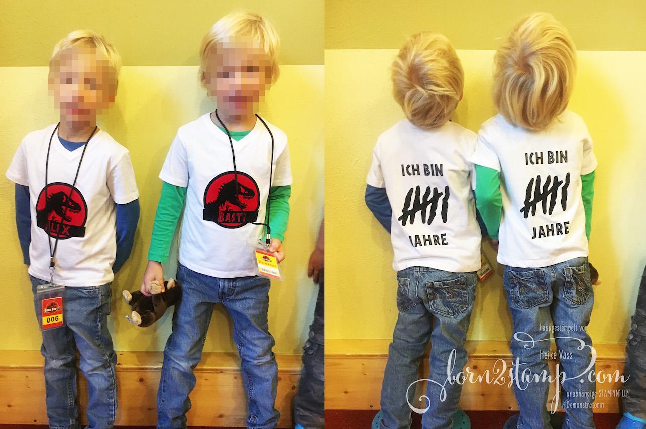 born2stamp Dino Party Geburtstag T-Shirts