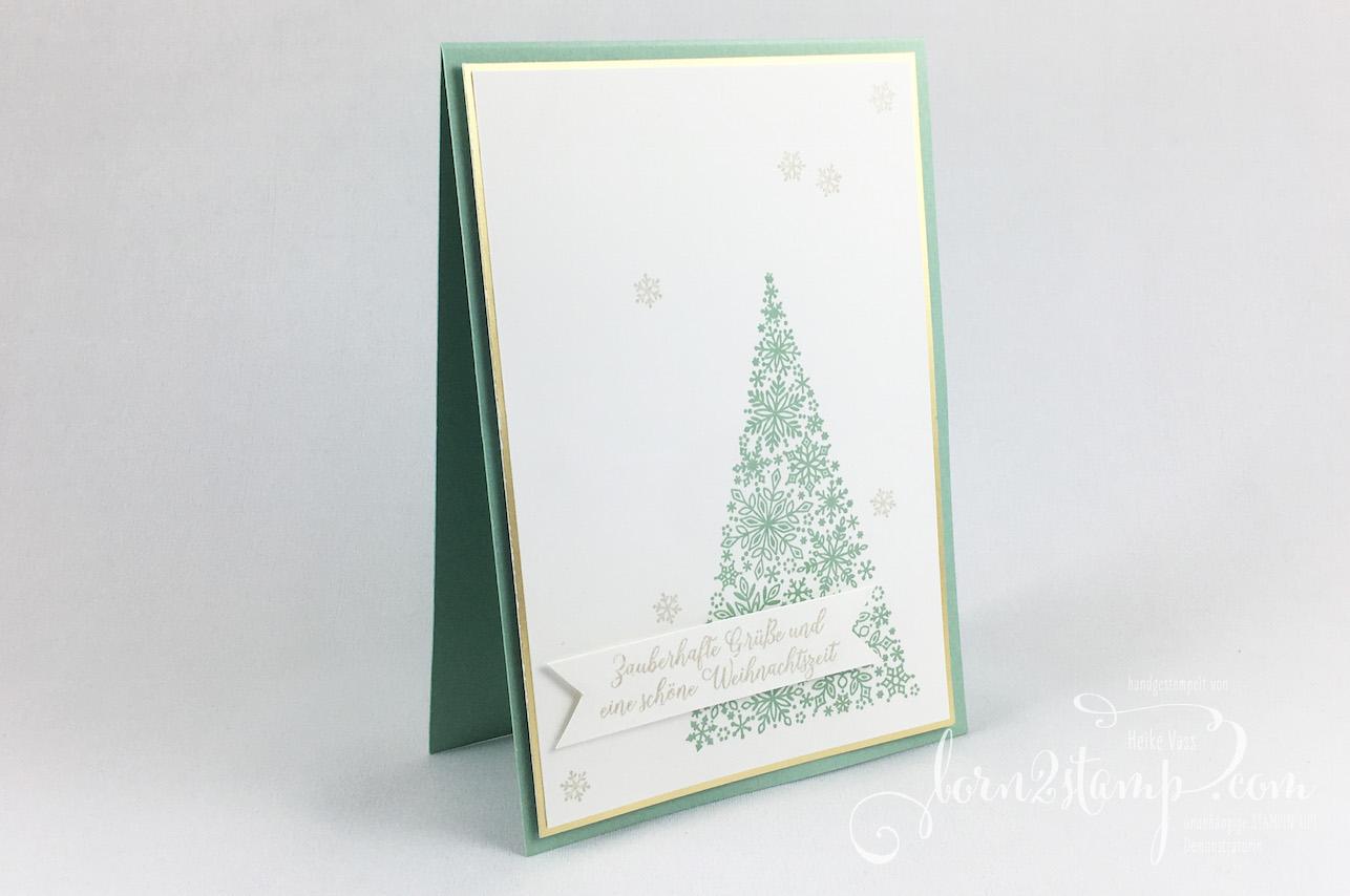 born2stamp STAMPIN' UP! IN{K}SPIRE_me – Weihnachtskarte – Wintermaerchen