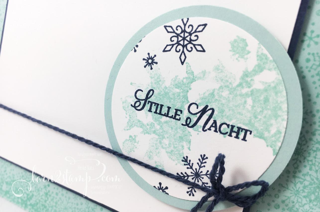 born2stamp STAMPIN' UP! INKSPIRE_me – Weihnachtskarte – Wintermaerchen – Flockenfantasie – Kordel