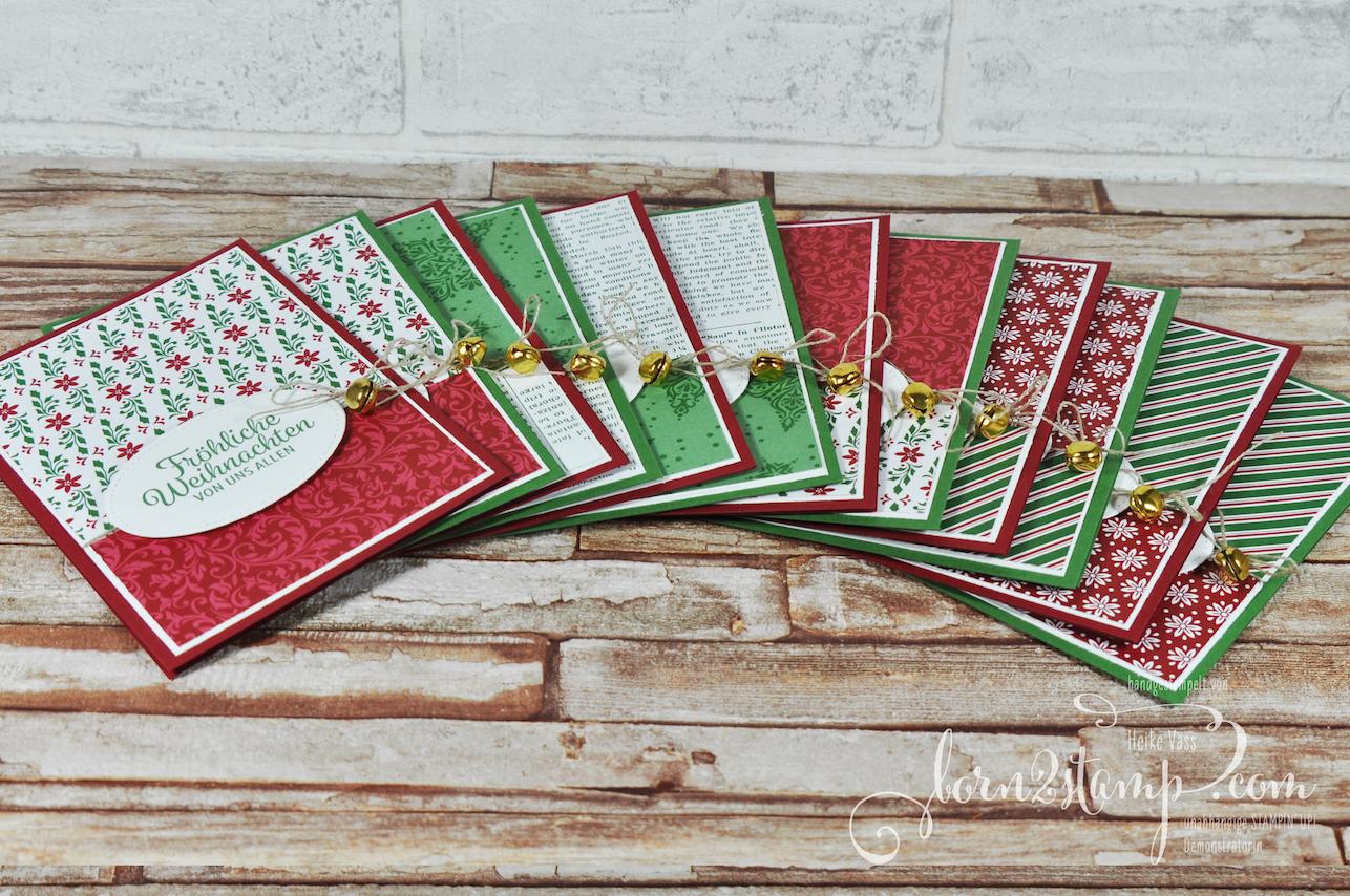 born2stamp STAMPIN' UP! December INKSPIRATION – Weihnachtskarte – DSP Elegante Weihnachten – Winterwunder