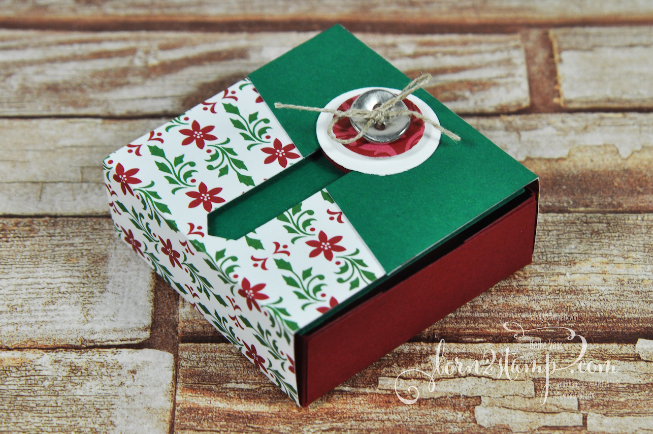 born2stamp STAMPIN' UP! Dezember Workshop – Verpackung – DSP Elegante Weihnachten