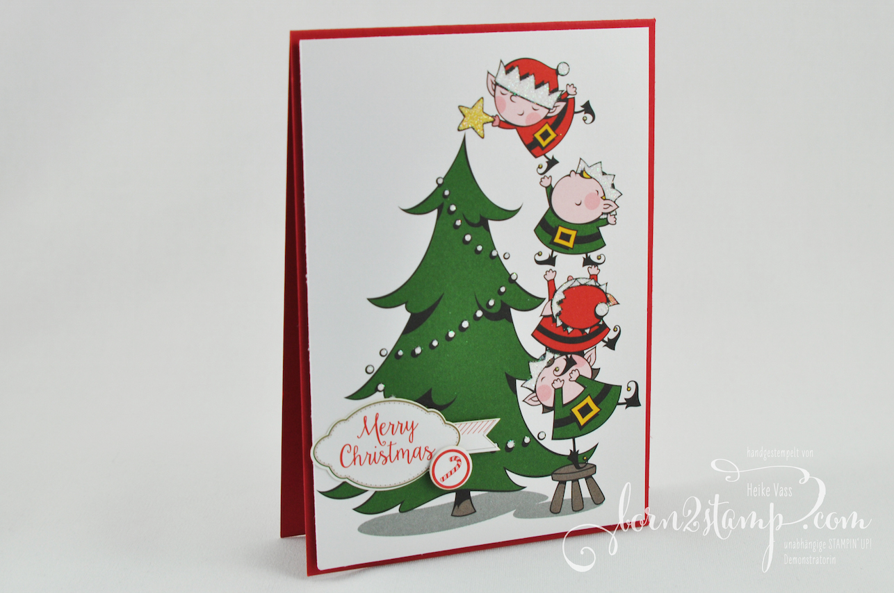 born2stamp STAMPIN' UP! INKSPIRE_me Weihnachts-Special – Weihnachtskarte – Weihnachtswerkstatt