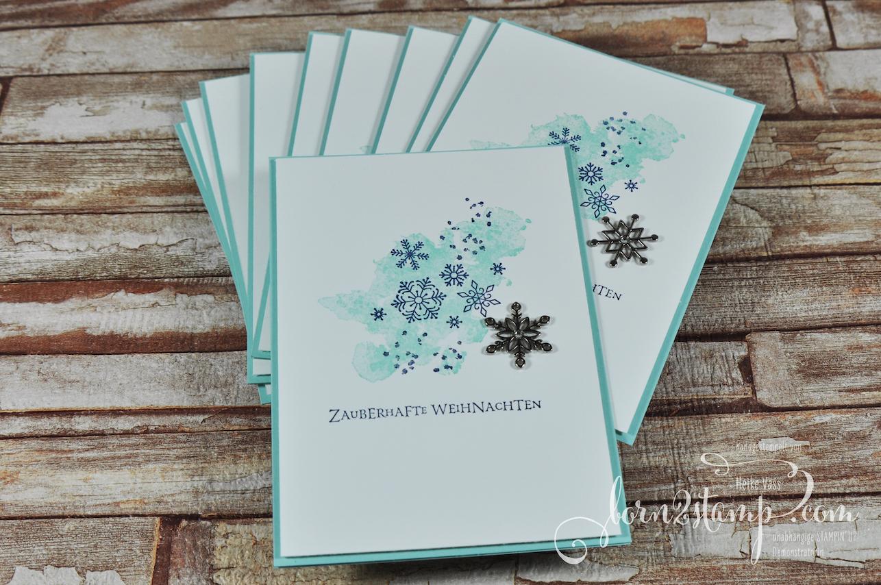 born2stamp STAMPIN' UP! Weihnachtskarte – Flockenfantasie