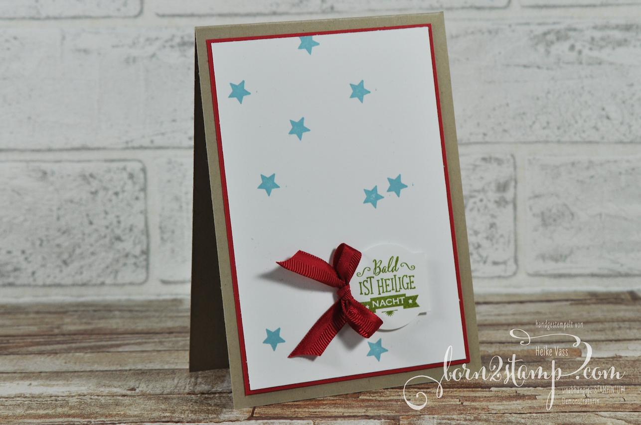 born2stamp STAMPIN' UP! Weihnachtskarte – Sternstunden – Stanz-Box Weihnachtstraditionen