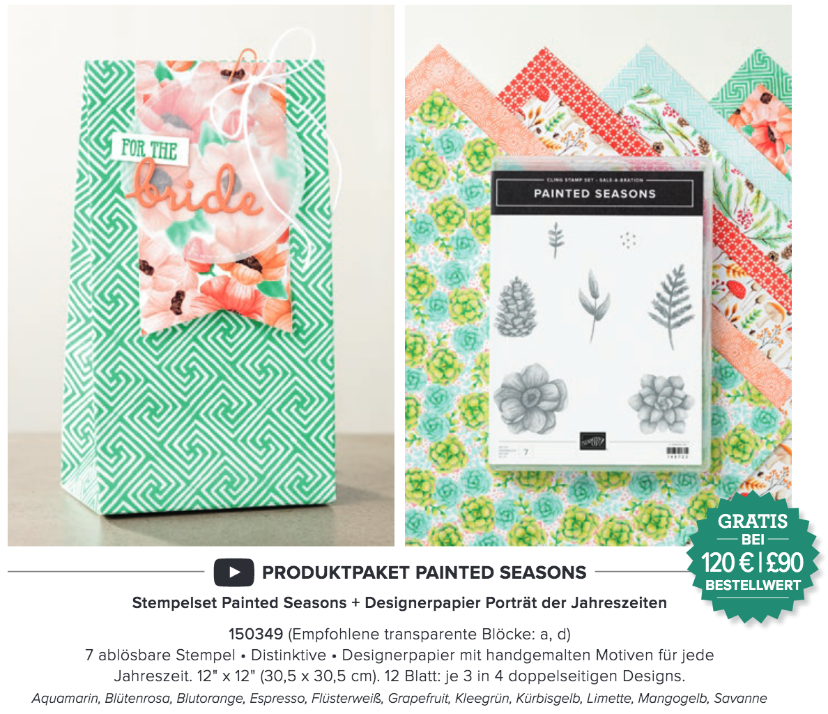 Sale-a-bration Produktpaket Painted Seasons