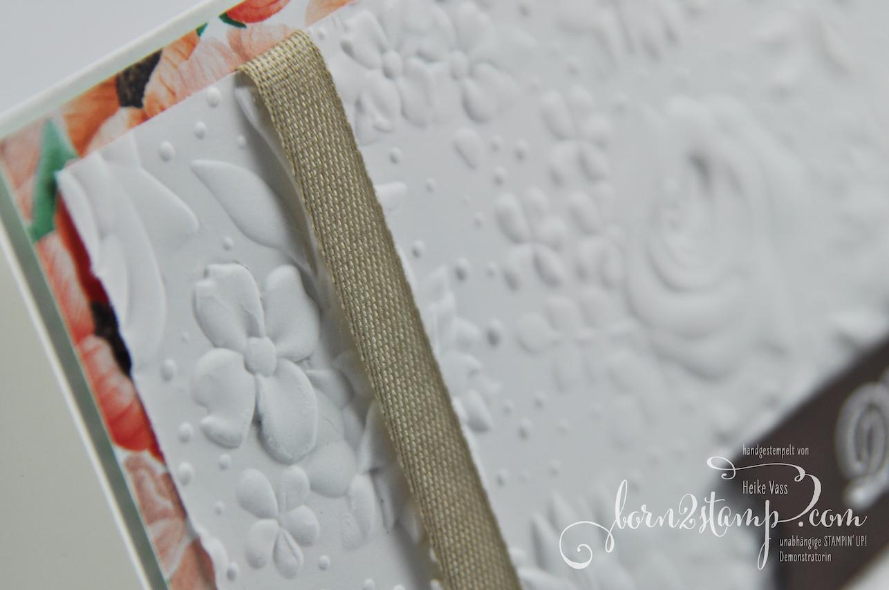 born2stamp INKSPIRE_me STAMPIN' UP! Dankeskarte – Praegeform Feldblumen – DSP Portraet der Jahreszeiten – Voller Schoenheit 2