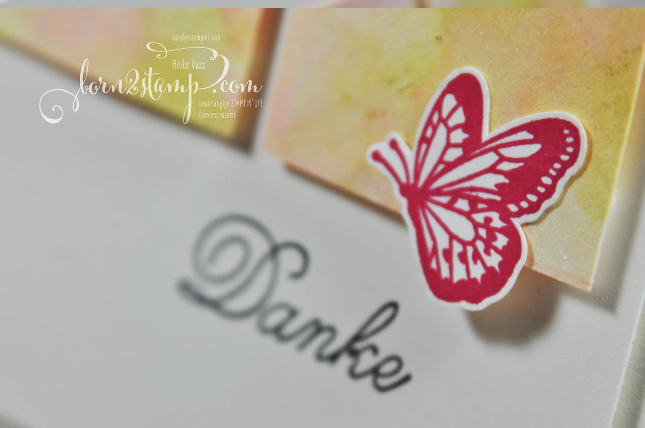 born2stamp STAMPIN' UP! Simple Stamping Techniques – Dankeskarte – Stampin' Blends Marbling – Voller Schoenheit