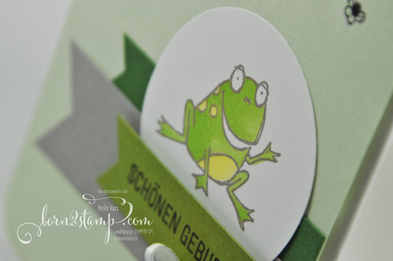 born2stamp INKSPIRE_me STAMPIN' UP! Geburtstagskarte – Froschkoenig – Gluecksfaelle