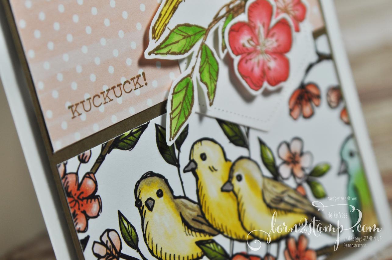 born2stamp STAMPIN' UP! Stempelnd durchs Jahr – Frei wie ein Vogel – DSP Vogelgarten – Stanzformen Raffiniert bestickte Rahmen