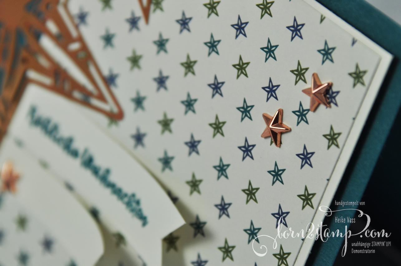 born2stamp STAMPIN' UP! INKSPIRE_me Weihnachtskarte – Weihnachtsmix – DSP Im schoensten Glanz – Metallic Akzente Im schoenen Glanz – Designerakzente Sterne 3