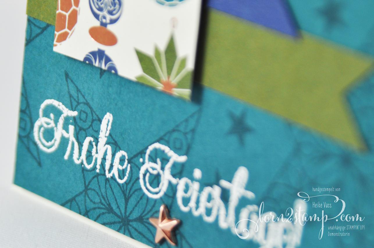 born2stamp STAMPIN' UP! INKSPIRE_me Weihnachtskarte – Sternenglanz – DSP Im schoensten Glanz