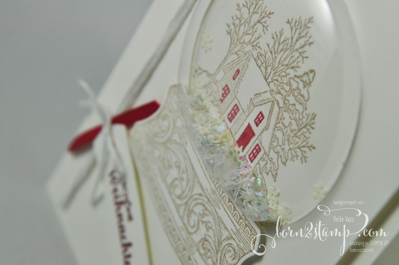 born2stamp STAMPIN' UP! INKSPIRE_me Weihnachtskarte – Still scenes – Stanzformen Schneekugel – Weihnachtsmix