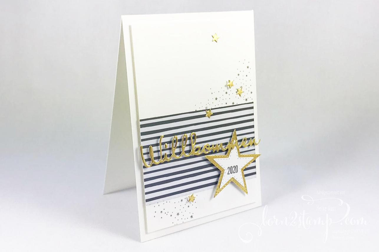 born2stamp STAMPIN UP INKSPIRE_me Silvester Sternenglanz – Aus der Kreativwerkstatt – Bestickte Sterne – Schoen geschrieben
