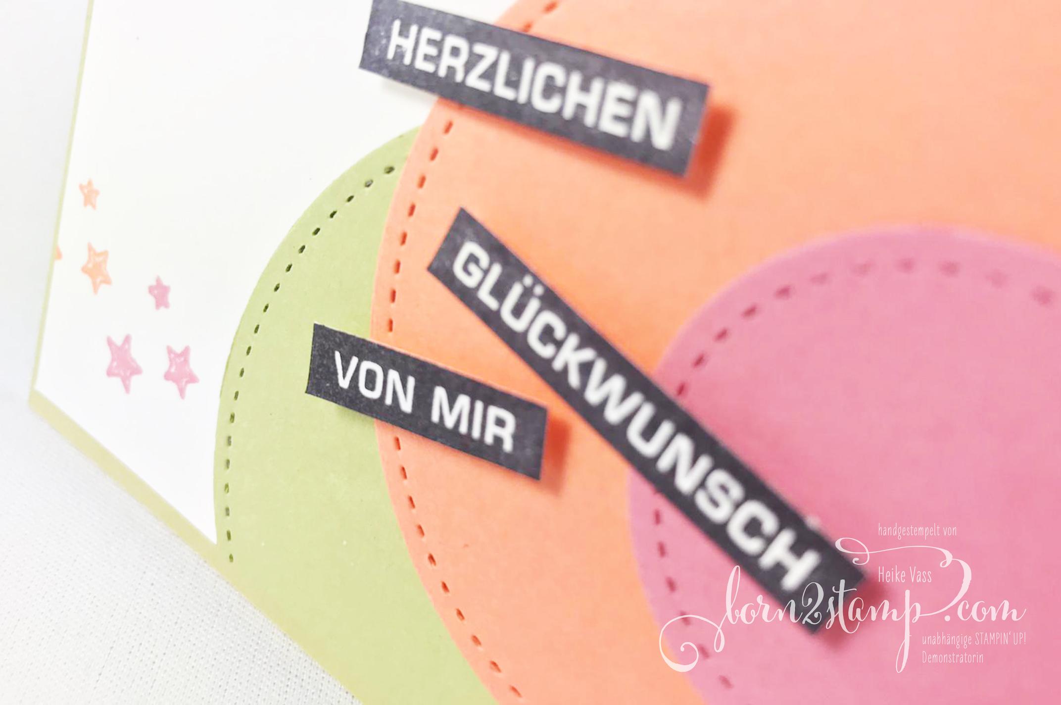 born2stamp STAMPIN UP INKSPIRE_me Geburtstagskarte – Alles im Block – Stanzformen Stickmuster